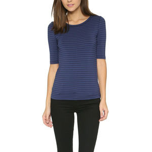 Free People Leader of the Pack Blue Striped Size S
